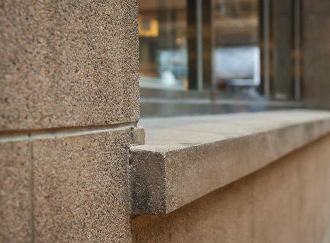 Granite exterior walls